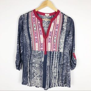 Tiny Anthropologie Ashbury Embroidered Top Small